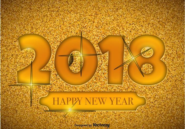 2018 Frohes Neues Jahr Illustration