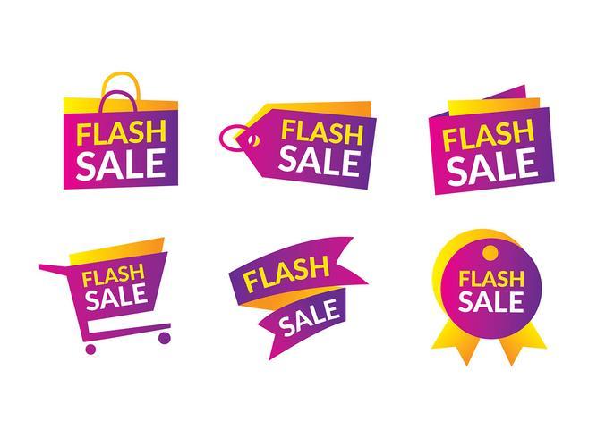 flash försäljning rubrik fri vektor