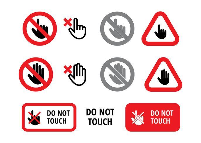Rör inte underteckna fri vektor