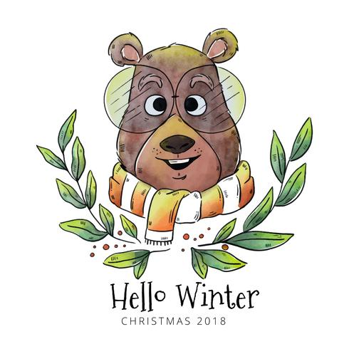 Hallo Winter Beer Vector