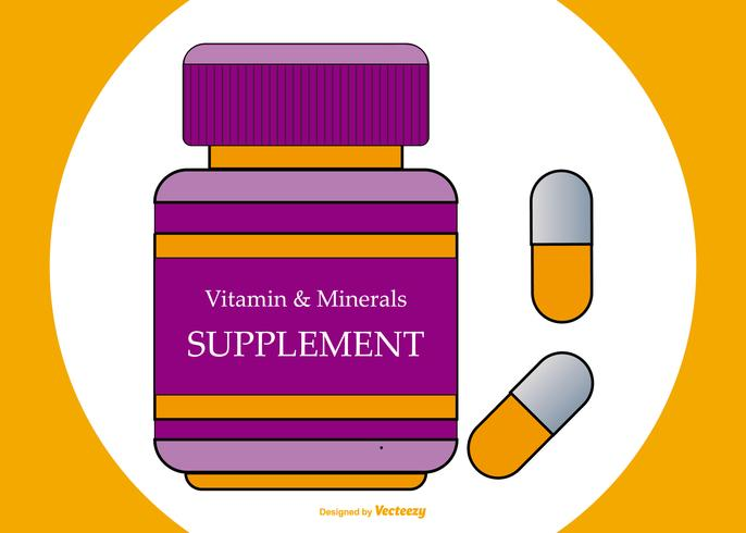 Flat Style Supplements Illustration
