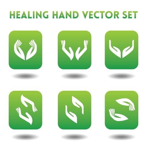 Icônes vectorielles de guérison des mains