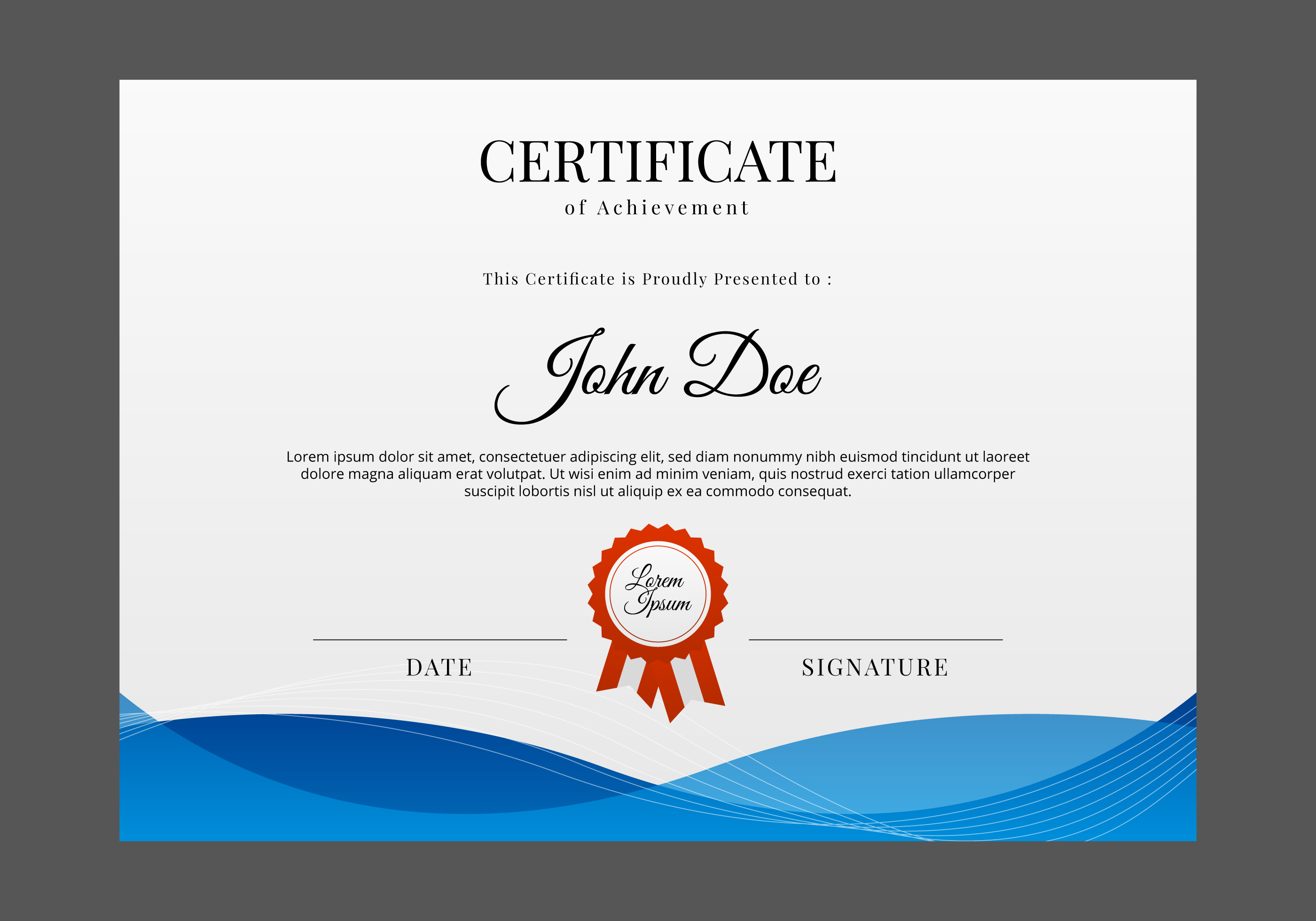 Free certificate template vector download free vector for Free diploma templates