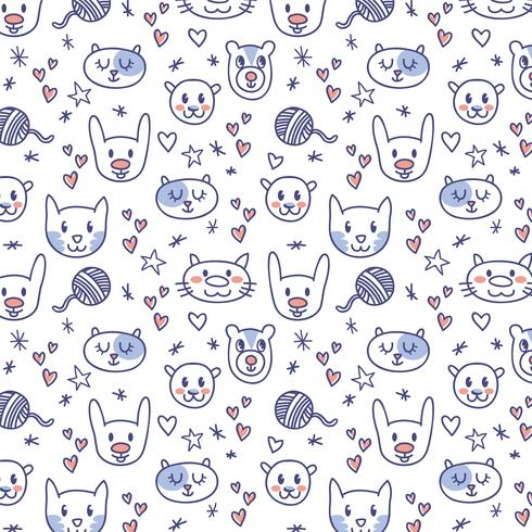 f7edb4e6b1d Free Cute Animal Pattern Vectors - Download Free Vector Art