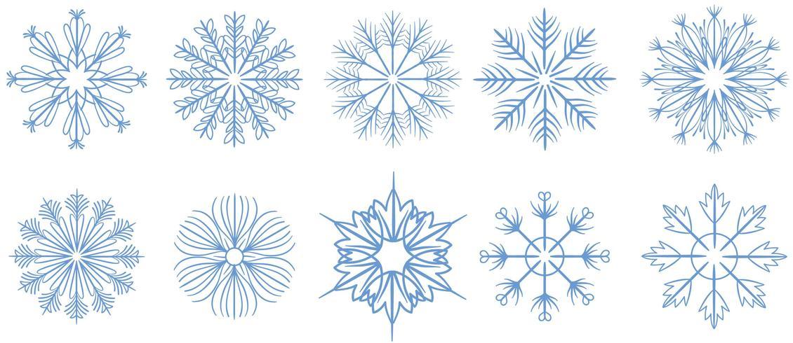 Gratis sneeuwvlokken 2 vectoren