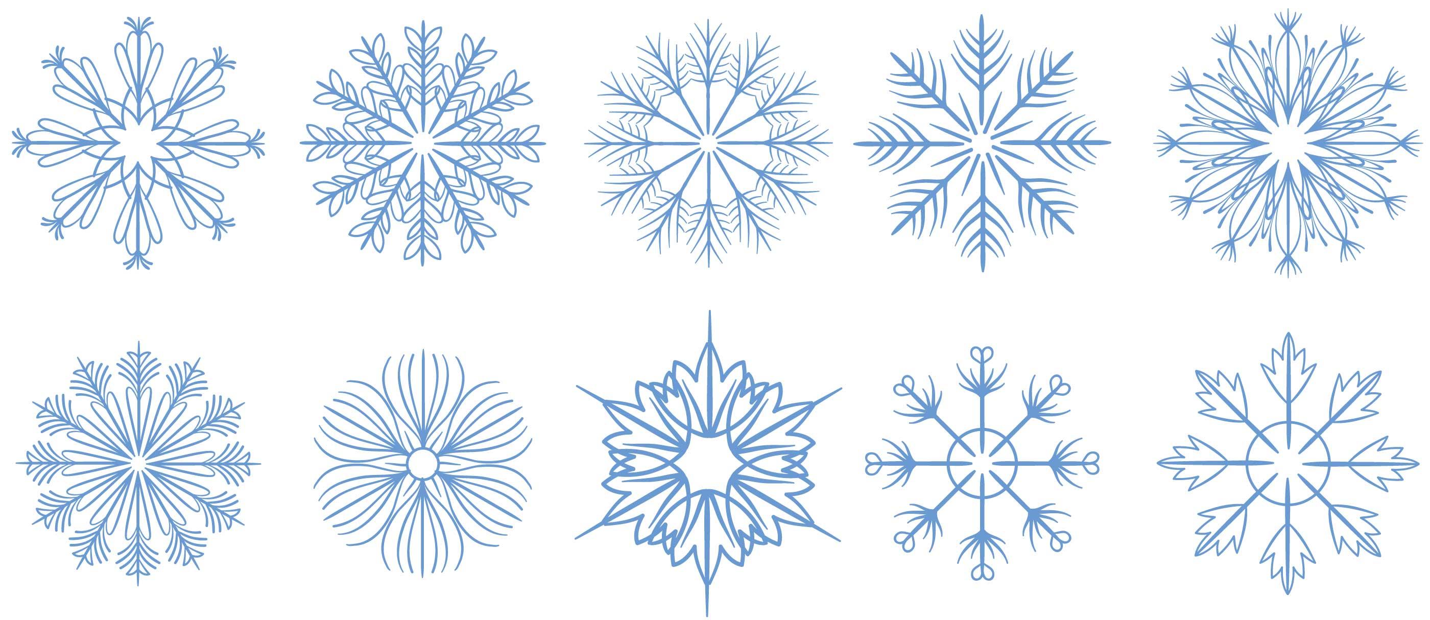 Free Snowflakes 2 Vectors