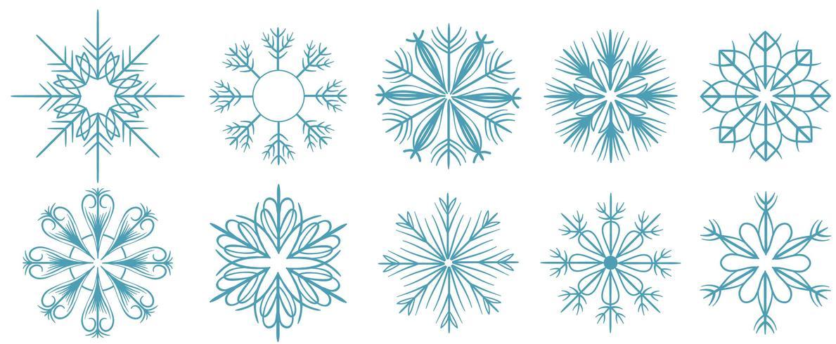 Gratis sneeuwvlokken vectoren