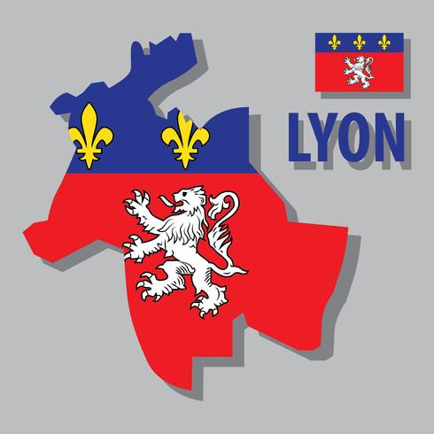 Lyon Map vector