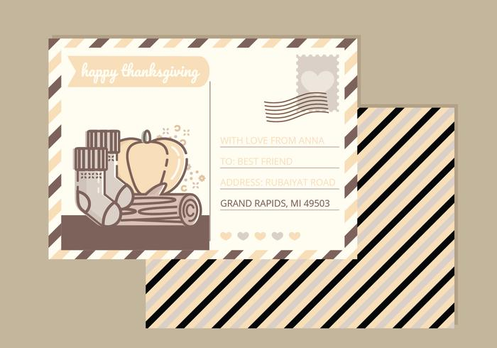 Vector Thanksgiving Card - Download Free Vector Art, Stock Graphics & Images