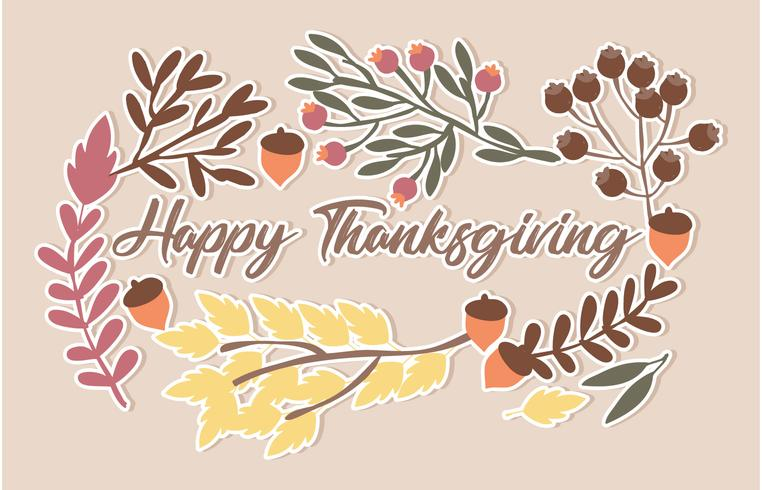 Vector Thanks Giving Illustration