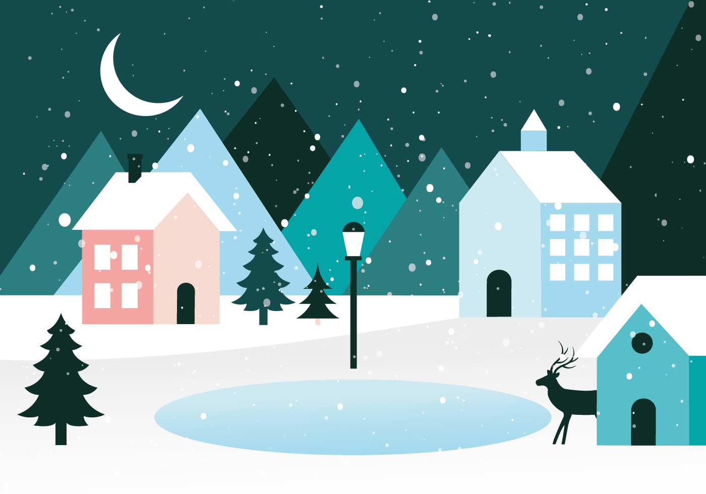 Gratis planl sning vector vinterlandskap ladda ner for Design paysage