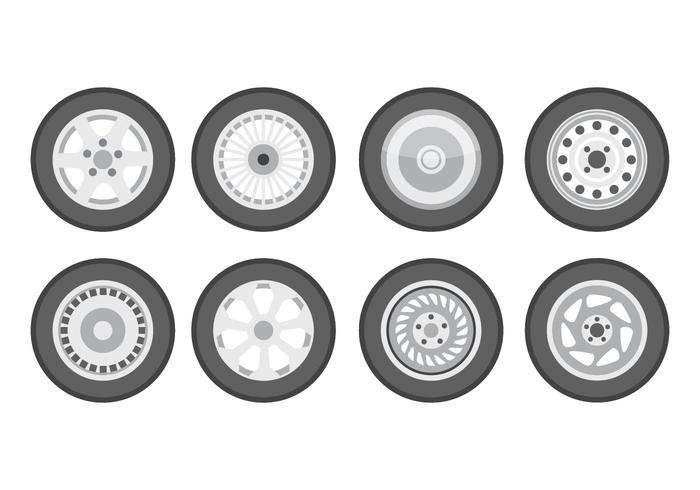 Free Tire With Hubcap Vector