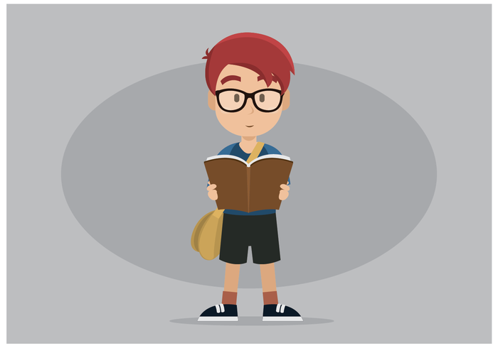 Gratis Bookworm karakter Vector