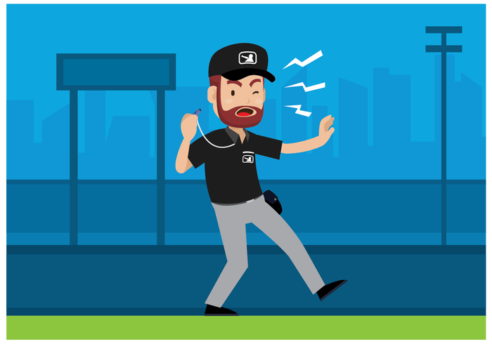 Vector de personagem do árbitro de beisebol grátis