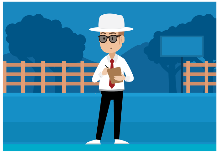 Free Cricket Umpire Character Vector
