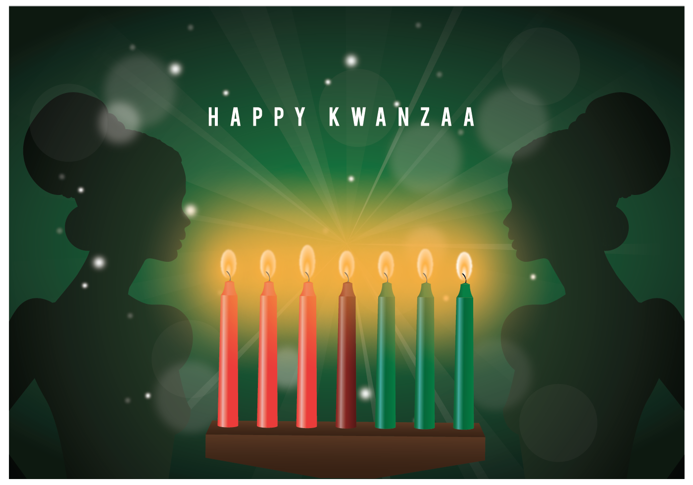 the black candle and kwanzaa Lessons from the kwanzaa candles the kwanzaa candles are seven—three red, a black, and three green the black candle is a celebration of being black.