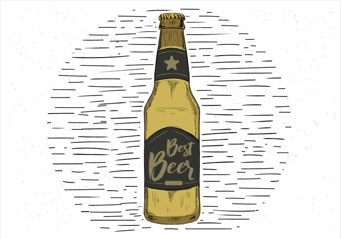 Free Hand Drawn Vector Best Beer Illustration