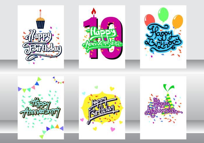 anniversaire kort vektor