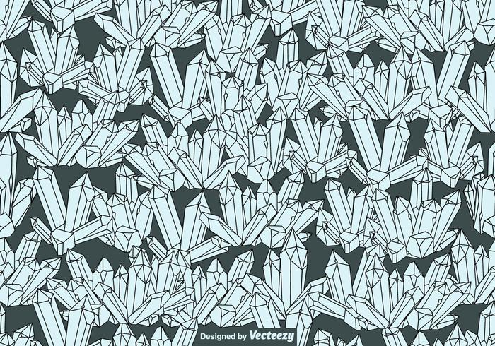 Vector SEAMLESS Quartz Crystals Pattern