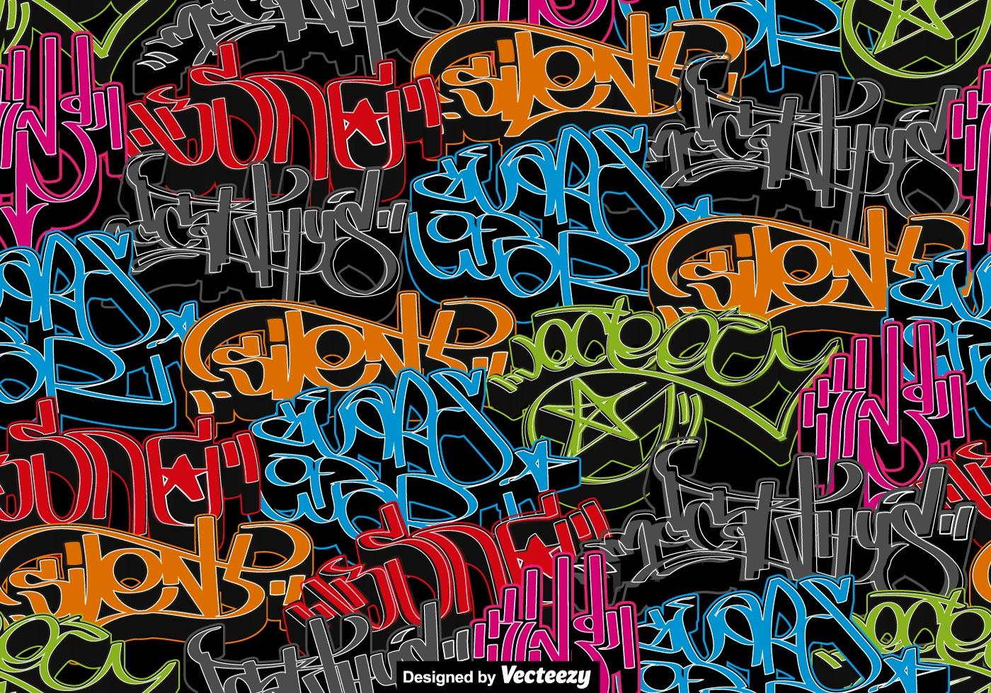 Vector Graffiti Art Seamless Pattern Download Free