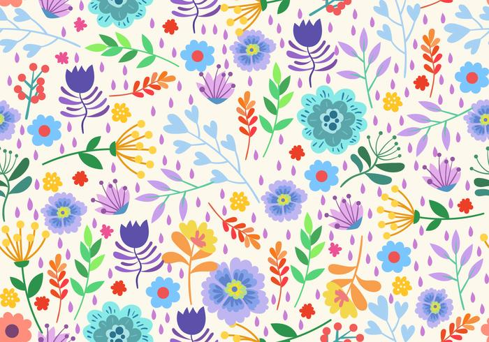 Seamless Pattern Elements Flower Ditsy