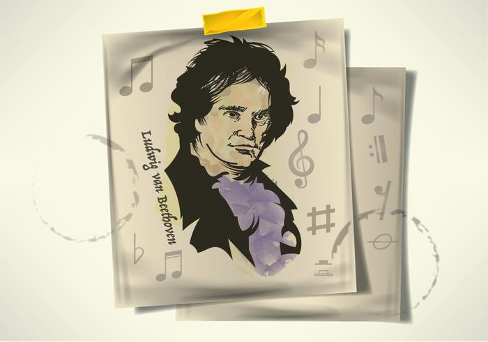 Free Hand Drawn Beethoven Vectors