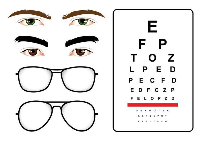 Mannelijke ogen test