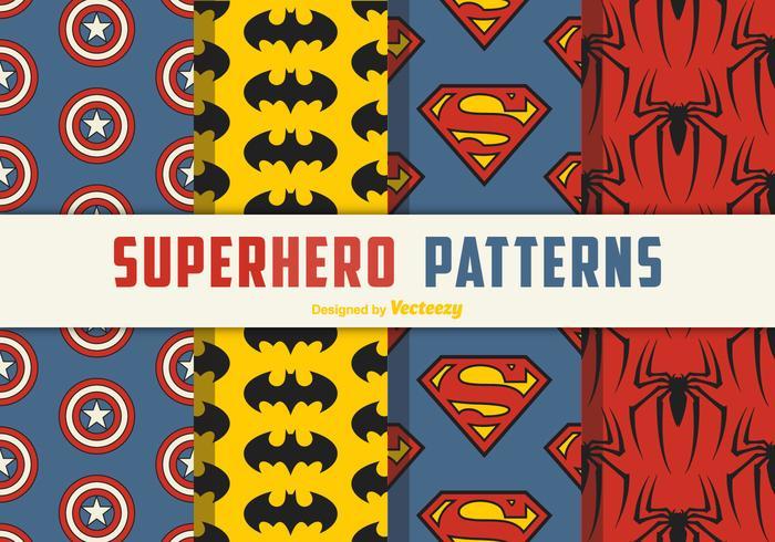 Superhjälte Seamless Vector Patterns