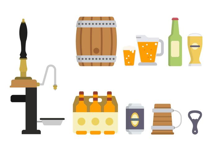 Platte bier vectoren