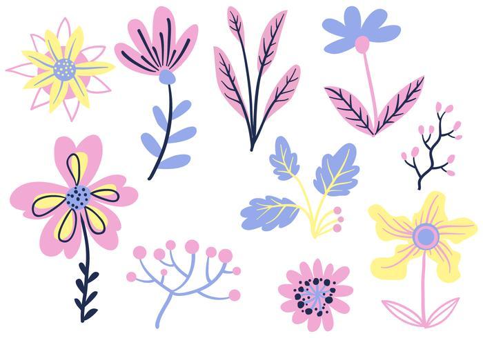 Gratis enkla blommor vektorer