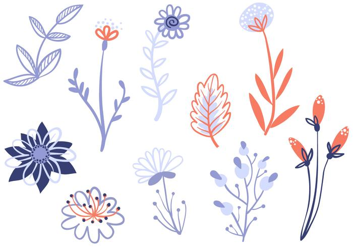 Gratis Delicate bloemen vectoren