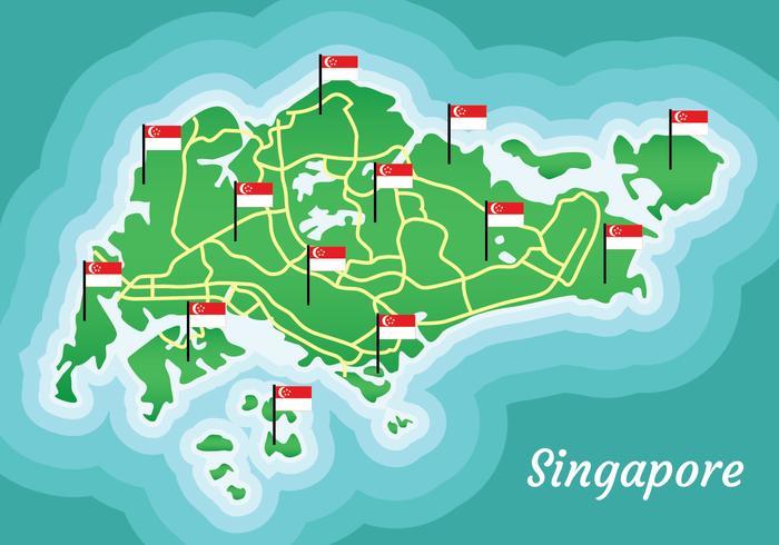 Mapa de Singapur