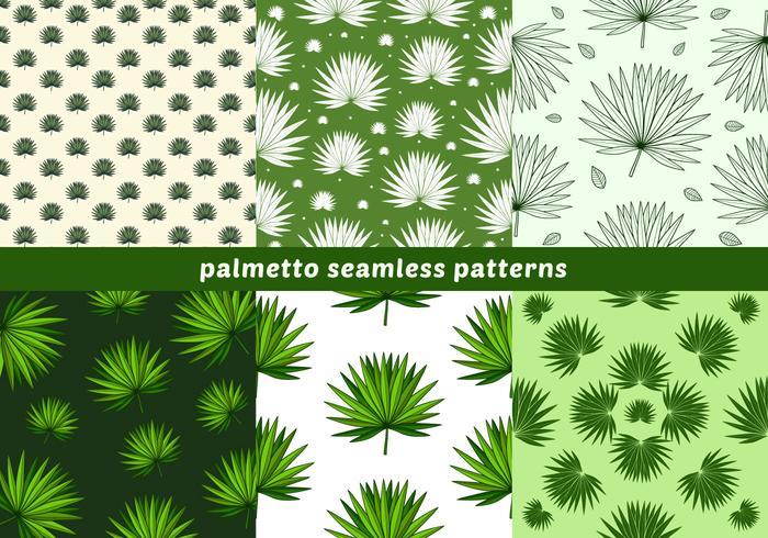 Palmetto Seamless Patterns