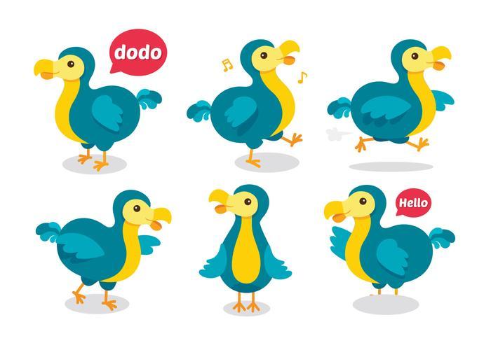 Gullig Dodo Cartoon