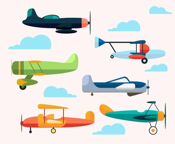 Cartoon Flugzeug Vektor