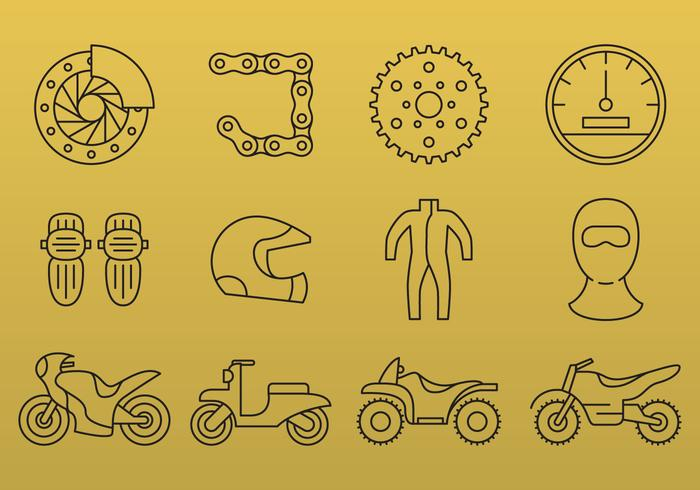 Motorcycle Line Icons - Download Free Vector Art, Stock Graphics & Images