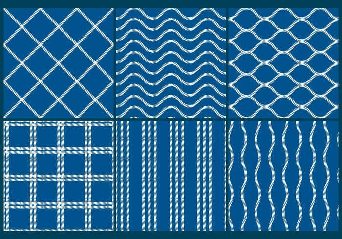 Blue Fishing Net Patterns