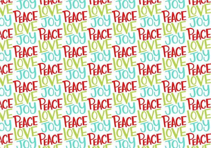 Peace Love Joy Repeating Pattern