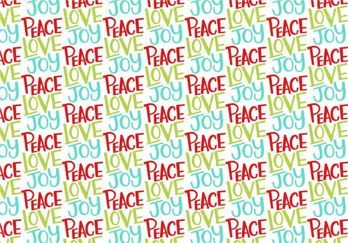 Peace Love Joy Herhalend patroon