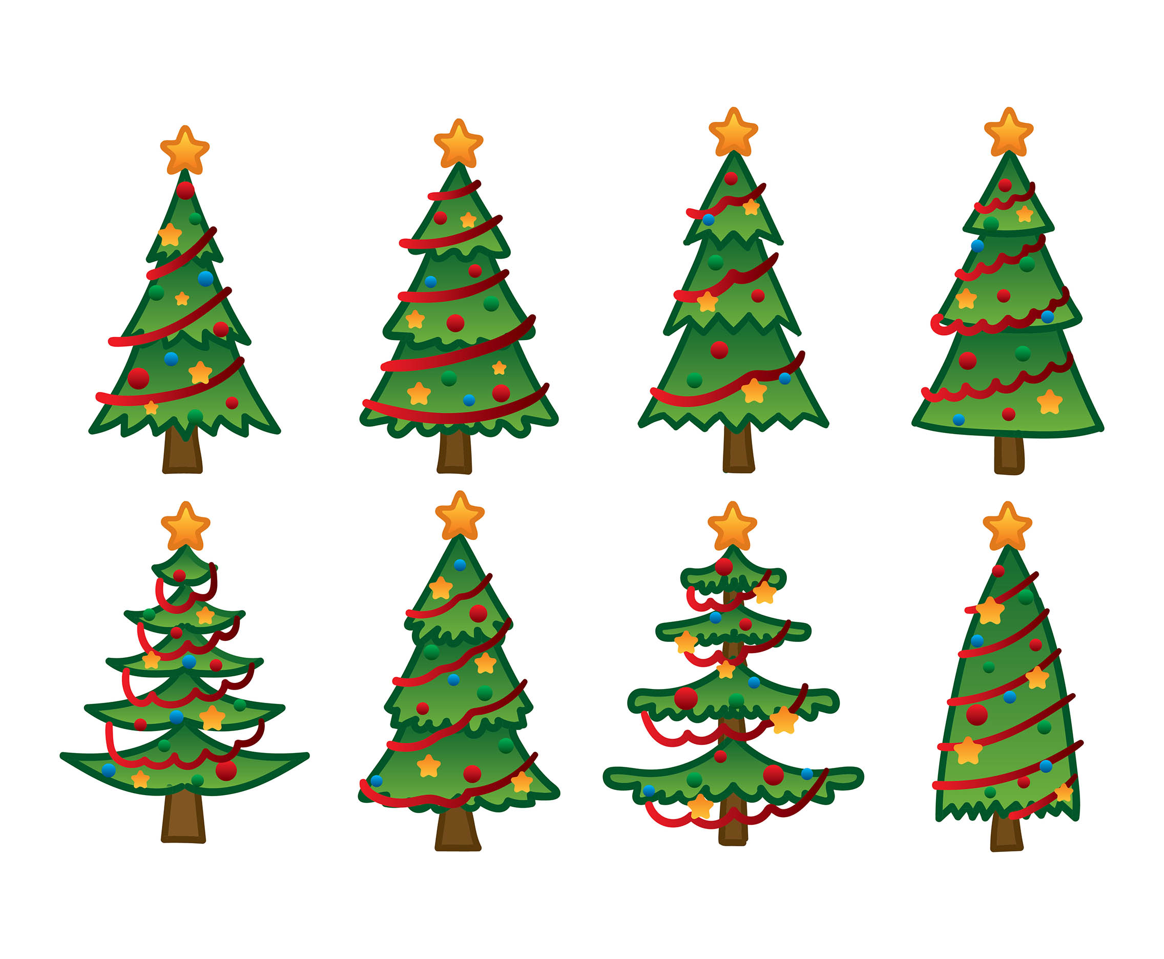 Cartoon Christmas Tree Hand Drawing Download Free Vector Art