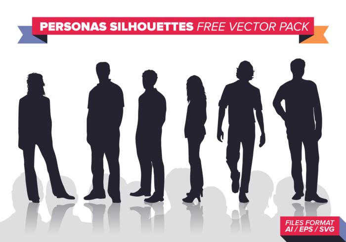 Personas Silhouettes Pack vecteur libre