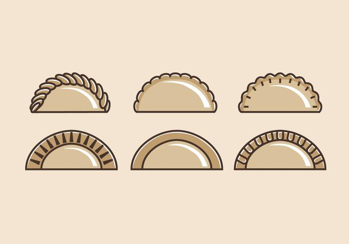 Empanadas Vectorillustraties