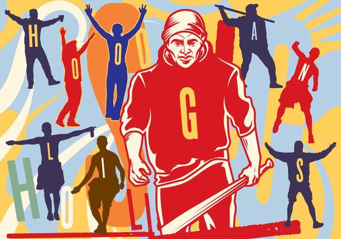 Hooligans silhouette Illustration