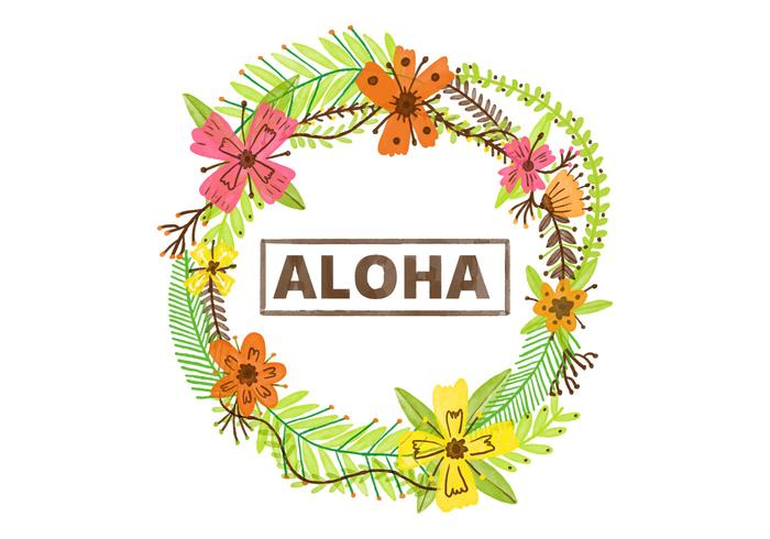 EARMARKED Hawaiian Lei Akvarell bakgrund
