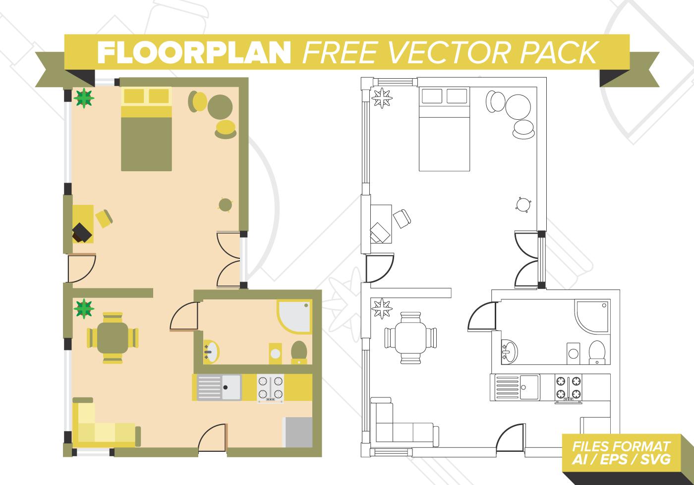 Floorplan Free Vector Pack Download Free Vector Art