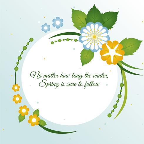 Spring Vector Greeting Card Design