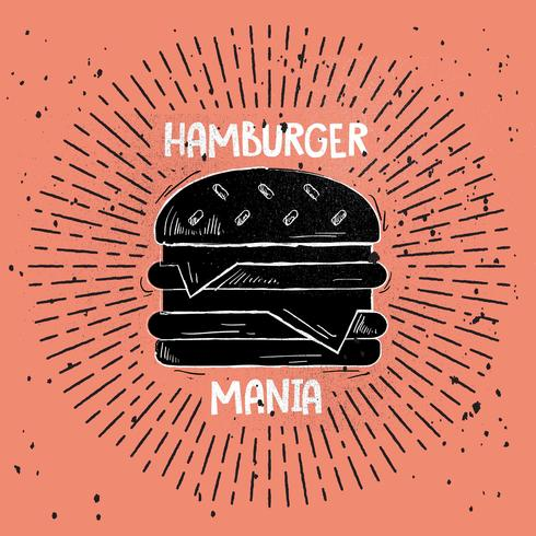 Hand Drawn Vector Fast Food Illustration