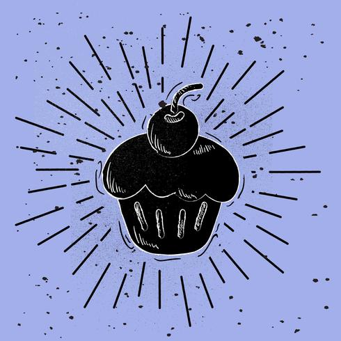 Handdragen Vector Cake Illustration