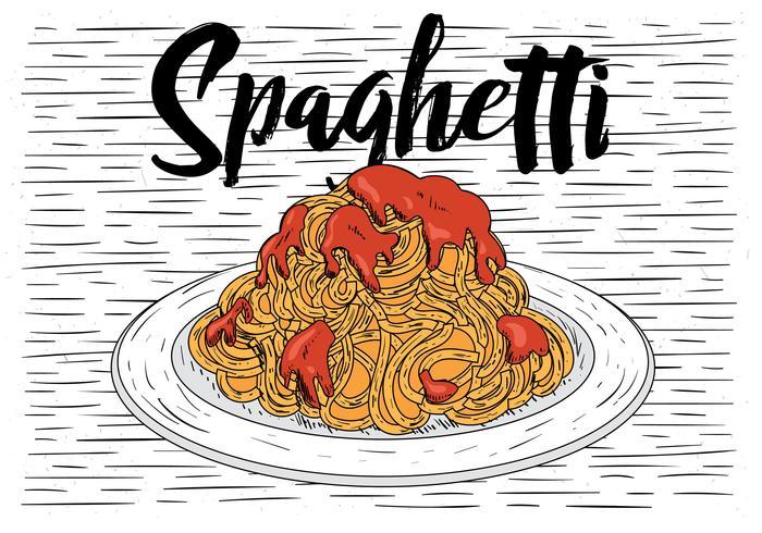 Mano dibuja la ilustración vectorial de alimentos