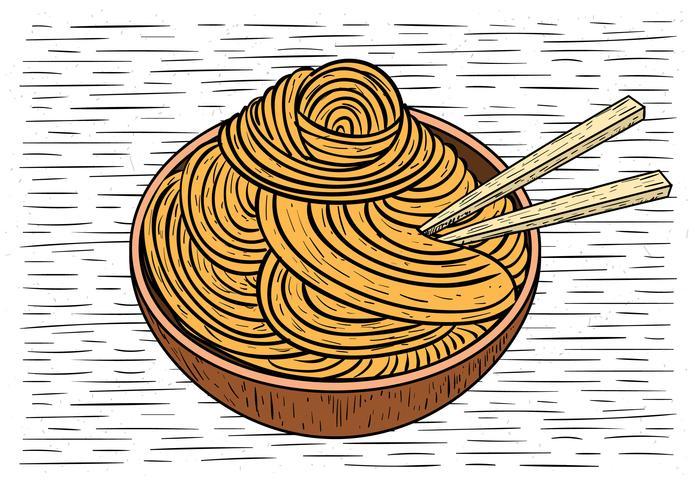 Illustrazione di cibo di vettore disegnato a mano